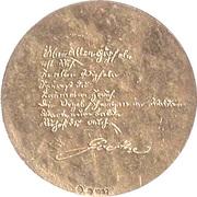 Jeton Johann Wolfgang von Goethe – revers