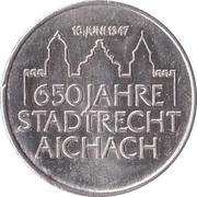 Tourist Token - 650 Jahre Stadtrecht Aichach – revers