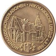 Token - Montagsdemonstrationen (Nikolaikirche Leipzig) – avers
