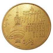 Monnaie de Paris Tourist Token - Globe Taler (Berliner Fernsehturm 1998) – avers