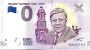 0 euro (Helmut Schmidt 1918-2018) – avers