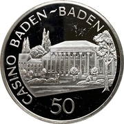 50 Mark - Casino Baden-Baden – avers