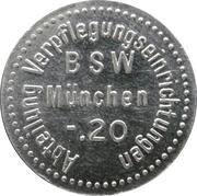 20 pfennig - Abteilung Verpflegungseinrichtungen BSW (München) – avers