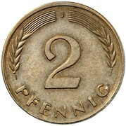2 Pfennig (Pattern) – revers