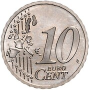 10 Euro Cent (1st map - Pattern) – revers