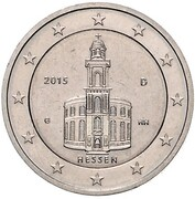 "2 Euro (Bundesländer - ""Hessen"" - Pattern) – avers"