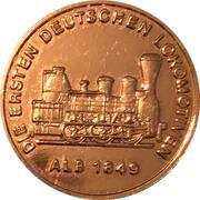 150 ans des chemins de fer allemands (Alb 1849) – avers