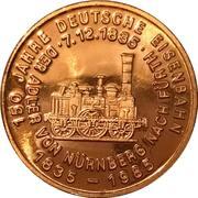 150 ans des chemins de fer allemands (Alb 1849) – revers