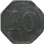10 pfennig (Schmölz - Consumverein) – revers