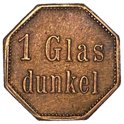1 Glas Dunkel - Ausstellungs Cafe (Duisburg) – revers