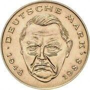 2 Deutsche Mark (Ludwig Erhard & Kurt Schumacher - Pattern) – avers