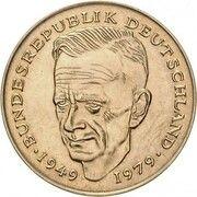 2 Deutsche Mark (Ludwig Erhard & Kurt Schumacher - Pattern) – revers