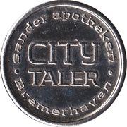 City Taler - Sander Apotheken (Bremerhaven) – revers