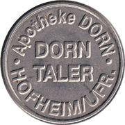 Dorn Taler - Apotheke Dorn (Hofheim/Ufr.) – revers