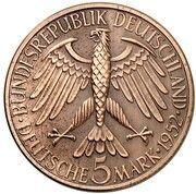 5 Deutsche Mark (Germanic Museum - Pattern) – avers