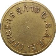 25 cents - Officers Club U.S.A.F.E (Wiesbaden) – avers
