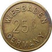 25 cents - Officers Club U.S.A.F.E (Wiesbaden) – revers