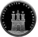 10 deutsche mark 800 ans de la ville d'Hambourg – revers