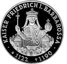 10 deutsche mark Friedrich I. Barbarossa – revers