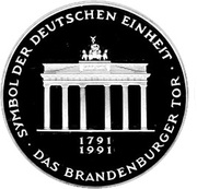10 deutsche mark Porte de Brandebourg -  avers