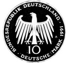 10 deutsche mark Porte de Brandebourg – avers