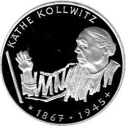 10 Deutsche Mark Käthe Kollwitz Allemagne République Fédérale