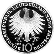 10 deutsche mark Décoration Pour le Mérite -  avers