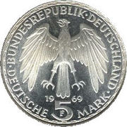 5 deutsche mark Gerhard Mercator -  avers