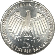 5 Deutsche Mark Parlement De Francfort Allemagne République