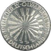 10 deutsche mark Jeux Olympiques de Munich -  avers