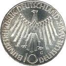 10 deutsche mark Jeux Olympiques de Munich – avers