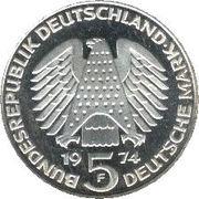 5 deutsche mark Constitution -  avers