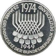 5 deutsche mark Constitution -  revers