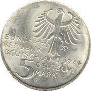 5 deutsche mark Immanuel Kant -  avers
