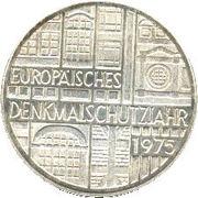 5 deutsche mark Europäisches Denkmalschutzjahr -  revers