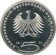 5 deutsche mark - Gotthold Ephraim Lessing -  avers