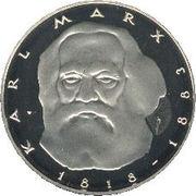 5 deutsche mark Karl Marx -  revers