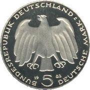 5 deutsche mark Karl Marx -  avers