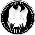 10 deutsche mark Robert Koch – avers