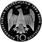 10 deutsche mark Résistance contre le nazisme – avers