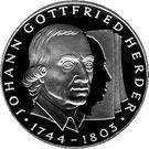 10 deutsche mark Johann Gottfried Herder – revers