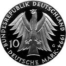 10 deutsche mark Johann Gottfried Herder – avers