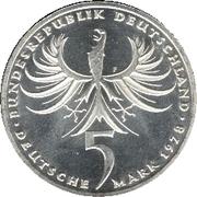 5 deutsche mark - Balthasar Neumann -  avers
