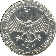 5 Deutsche Mark Wilhelm Alexander Von Humboldt Allemagne