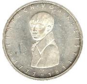 5 deutsche mark - Heinrich von Kleist -  revers