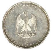 5 deutsche mark - Heinrich von Kleist -  avers