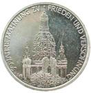 10 deutsche mark Dresde – revers