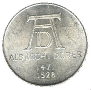 5 deutsche mark Albrecht Dürer -  revers