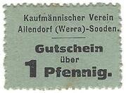 1 Pfennig (Allendorf-Sooden) – avers