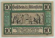 10 Pfennig (Allenstein, Stadt) – avers